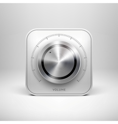 Technology icon with metal textured knob vector