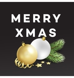 Traditional Christmas decoration elements Modern vector