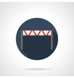 Traffic barrier round flat icon vector image