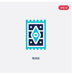 Two color rugs icon from furniture and household vector
