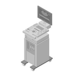 Ultrasound equipment icon isometric style vector