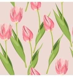 Vintage tulip seamless vector