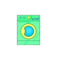 Washing machine icon in cartoon style vector image