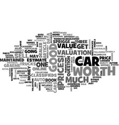 What is my car worth text word cloud concept vector