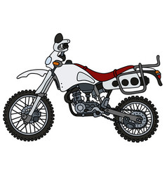 white off-road motorcycle vector image