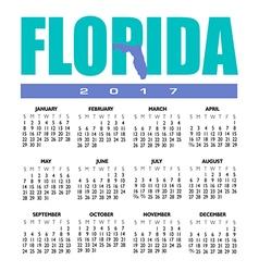 2017 Florida calendar vector image vector image