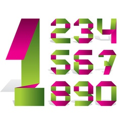 number tape vector image vector image