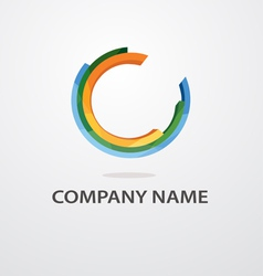 universal logo vector image vector image