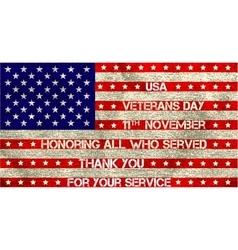 veterans day flag vector image