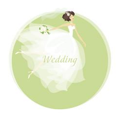 bride wedding dress concept spring pastel color vector image