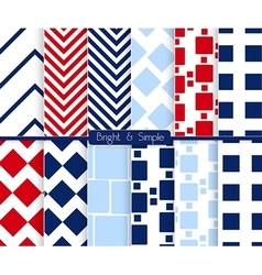 Bright and simple red dark and light blue squares vector image