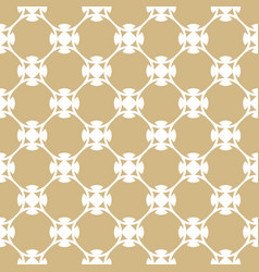 golden pattern in arabian style white and gold vector image