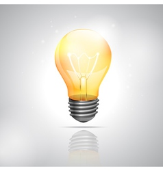 Realistic light bulb on the white background vector image