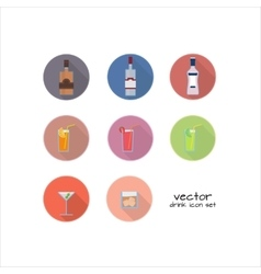 set of alcoholic and nonalcoholic drinks vector image