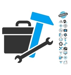 Toolbox Icon With Air Drone Tools Bonus vector image vector image
