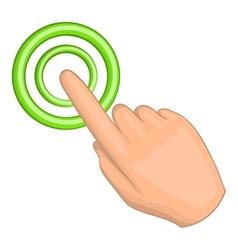 Cursor hand icon cartoon style vector image