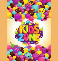 kids zone poster vector image
