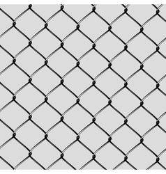 Realistic Steel Netting Cut vector image vector image