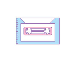 retro cassete to listen kind music vector image vector image