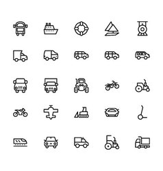Transportation Icons 3 vector image vector image