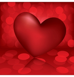 heart valentine card vector image vector image