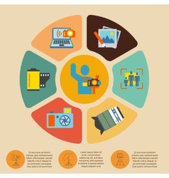 Photography infographics set vector image vector image