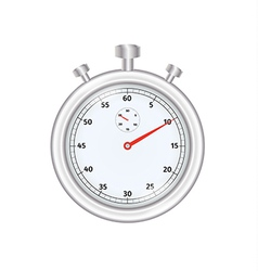 silver stopwatch vector image
