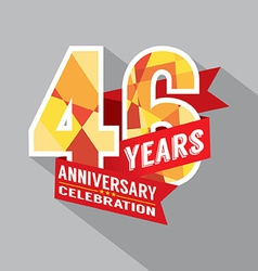 46th Years Anniversary Celebration Design vector image