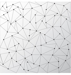 Abstract triangles outlines with dots connect on vector
