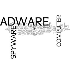adware what it can do to you text word cloud vector image