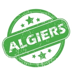 Algiers green stamp vector