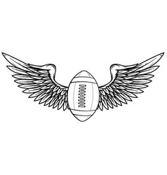 American football and wing vector