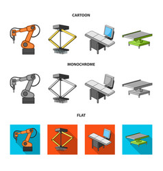 automotive industry and other web icon in cartoon vector image