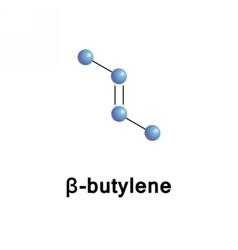 B-Butene 2-butylene alkene vector