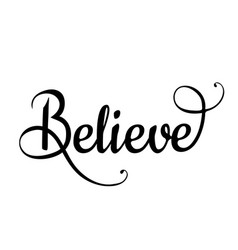 believe vector image