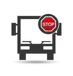 big bus stop road sign design vector image