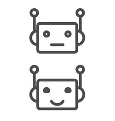 Bot icon chatbot icon concept cute smiling robot vector