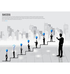 Businessman standing on graph vector image