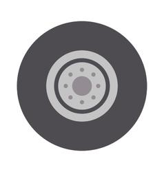 Car wheel cartoon flat on vector