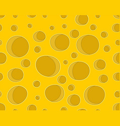 cheese with holes seamless pattern vector image