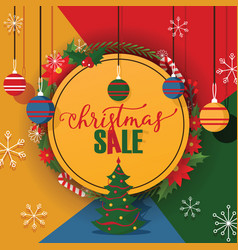 christmas sale merry xmas discount for vector image