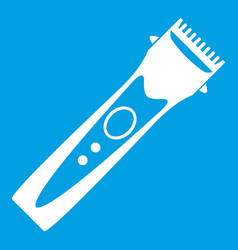 Clipper icon white vector