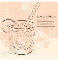 Cocktail Spritz scetch vector image