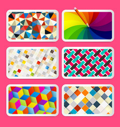 colorful backgrounds design vector image