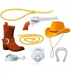 cowboy accessories vector image