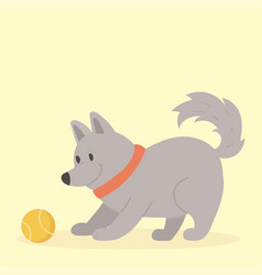Cute playing dog character vector