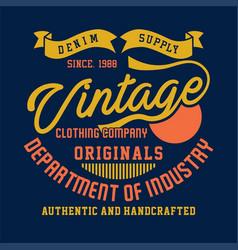 denim supply vintage clothing company vector image