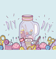 Do it yourself crafts concept vector