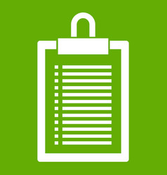 document plan icon green vector image
