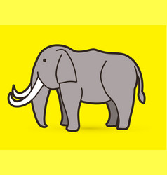 elephant cartoon graphic vector image